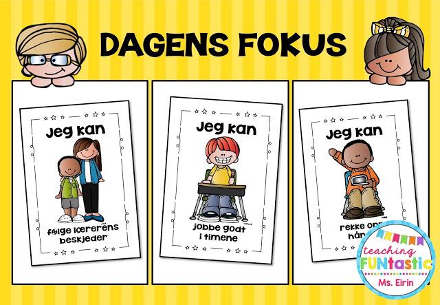 Plakat Dagens fokus. Visuell fremstilling av klasseregler