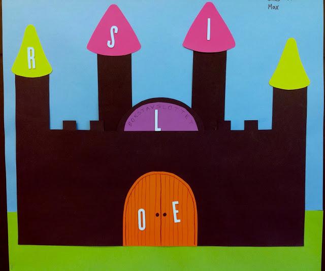 Slott til bokstavene etterhvert som de barna lærer bokstavene.